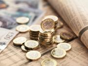 currency on financial newspaper