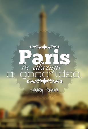 Eiffel Tower with Sabrina quote
