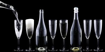 sparkling wines and champagne flutes
