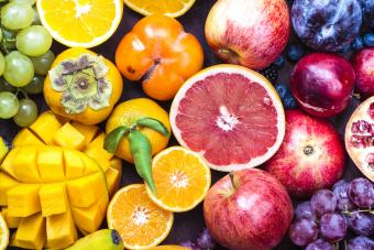 A colorful spectrum of fruit