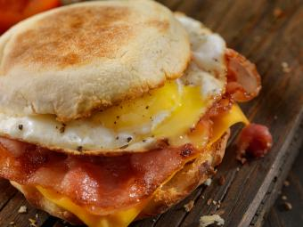 Bacon, Egg and Cheese Breakfast Sandwich